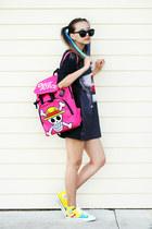 hot pink onfancy bag - black Wholesale Celebshades sunglasses
