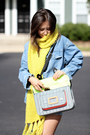 Sky-blue-denim-jacket-younghungryfree-jacket-yellow-h-m-scarf