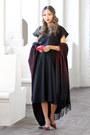 Black-etsy-dress-brick-red-dynamite-scarf