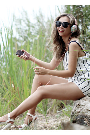 white Missguided romper - dark brown Ankti iphone case