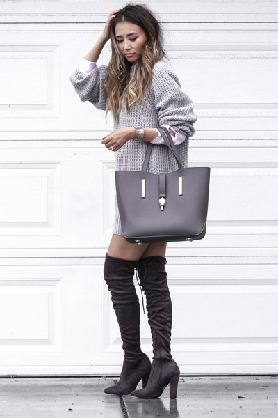 white Forever21 shirt - silver Public desire boots