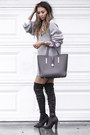 Silver-public-desire-boots-white-forever21-shirt