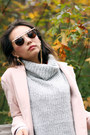 White-frontrowshop-dress-light-pink-sheinside-coat-silver-forever-21-sweater
