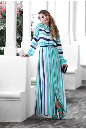 aquamarine NY& Company dress - aquamarine NY& Company heels
