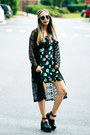 Black-younghungryfree-boots-navy-floral-print-yigelila-dress