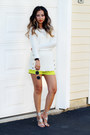 White-calvin-klein-sweater-chartreuse-queenhorsfall-closet-shorts