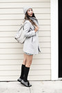 Silver-asos-boots-heather-gray-nasty-gal-bag