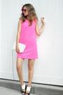 Hot-pink-ifchic-dress-bubble-gum-polette-sunglasses-white-missguided-sandals