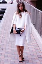 white asos skirt - white Monki sweatshirt