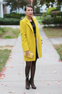 Yellow-oasap-coat-yellow-aldo-bag-gold-kristin-perry-earrings