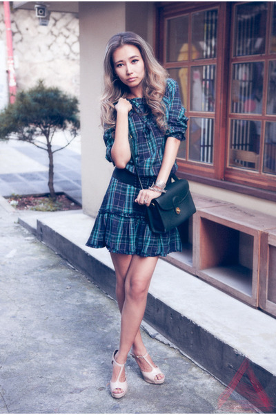 forest green asos dress