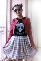 hot pink kpopsicle jacket - black CGBCN shirt - bubble gum Boohoo skirt