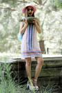 White-dressin-dress-pink-asos-hat-sky-blue-zaful-bag
