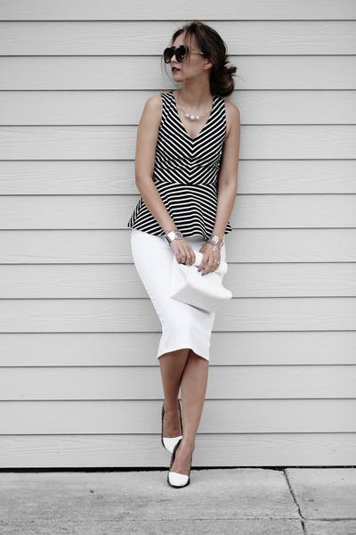 black Dynamite Clothing top - tawny zeroUV sunglasses - white Bebe skirt