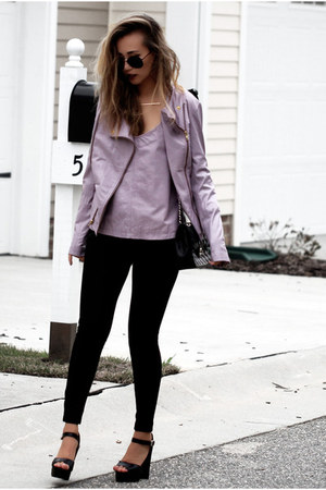 light purple Viparo jacket - light purple Viparo top - black Nordstrom pants