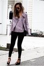 Light-purple-viparo-jacket-black-nordstrom-pants-light-purple-viparo-top