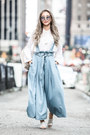 White-band-of-gypsies-top-sky-blue-storets-pants
