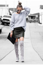 Silver-public-desire-boots-heather-gray-zady-sweater-black-h-m-scarf