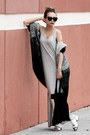 Silver-lulus-dress-black-ifchic-cardigan