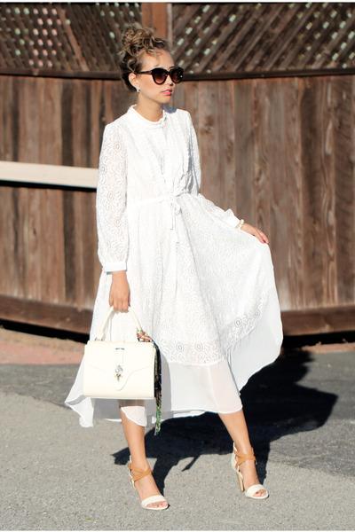 ivory Chicwish dress - ivory Poupee de Papier bag
