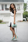White-chicwish-dress-aquamarine-ifchic-bag-aquamarine-zappos-sandals