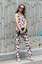 light pink printed blackfive top - light pink printed blackfive pants
