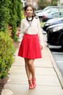 Red-chicwish-skirt-black-susanna-galanis-necklace
