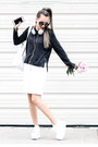 Dark-gray-zara-sweater-white-macys-skirt-white-karmaloop-sneakers