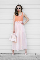 peach Grayson top - light pink chicnova skirt