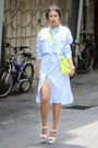 Sky-blue-front-row-shop-dress-chartreuse-new-look-bag