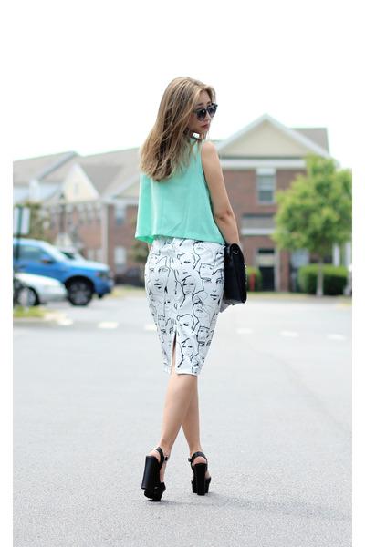 white lovemartini skirt