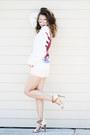 White-hawkster-sweater-light-pink-yoox-shorts-cream-lulus-sandals