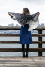 Black-report-signature-boots-white-karen-kane-scarf-navy-boohoo-skirt