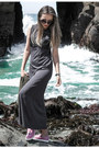 Gray-topshop-dress-black-daniel-wellington-watch-bubble-gum-hardy-loafers