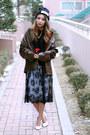 Black-lace-style-nanda-dress-white-asos-skirt