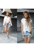 white chiffon Forever 21 blouse