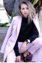 light purple Lamoda101 blazer - black H&M sweater
