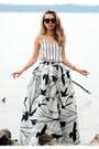 White-missguided-romper-white-chicwish-skirt
