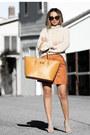 Nude-nina-shoes-nude-sheinside-sweater-orange-nuciano-bag