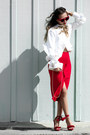 White-wannabk-top-ruby-red-eva-mendes-skirt-red-nasty-gal-sandals