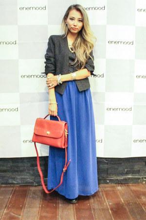 blue Forever 21 skirt - heather gray Mango jacket