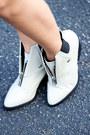 Heather-gray-shellys-london-boots-white-haute-rogue-coat