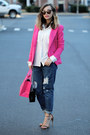 Navy-blackfive-jeans-hot-pink-fashion-frenzzie-blazer