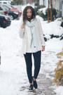 Light-blue-the-shopping-bag-scarf-black-choies-flats