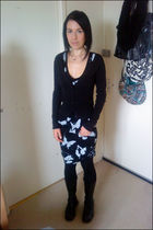 black Religion dress - black H&M cardigan