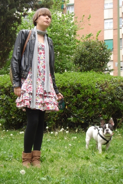 Primark dress - Lipsy for Topshop jacket - Bershka boots - H&M scarf