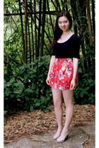 Zara skirt - Bershka blouse - Market heels