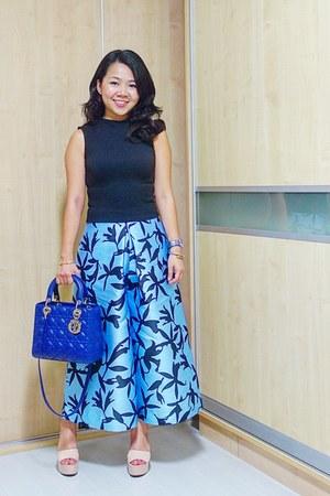 blue lady dior dior bag - light blue culottes cmeo collective pants