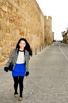 Zara jacket - aerosoles shoes - Zara skirt