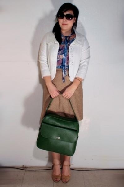Vera blouse - H&M jacket - purse - maison martin margiela shoes